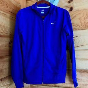 NWT Nike Women royal blue track jacket zip up L